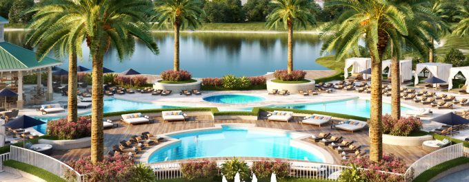 RELAXING RESORT POOL AND JACUZZIS